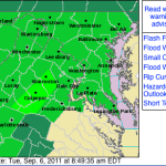 Wintergreen & Nelson : Flash Flood Watch -  ! Canceled ! @ 1:23PM  EDT -  9.6.11