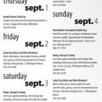 Lots Happening This Labor Day Weekend!