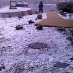 Light Snow Accumulates In Nelson's Higher Elevations