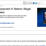 Guilty Plea Expected in Nelson Illegal Bear Organ Harvesting Case