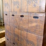 Shrink Wrapped Cases at the Barrel House. Photo by Tommy Stafford.