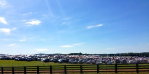 Thousands of cars line the fields at Oak Ridge Estate in Arrington, VA