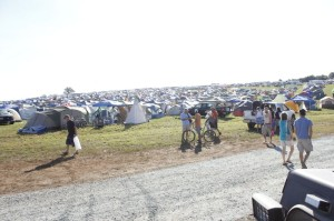 Thousands & thousands of people camped during the four day festival at Lockn' 2013.