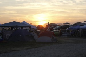 The sunsets over the 2013 Lockn' Festival at Arrington, VA.