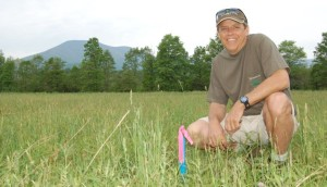 ©™2006-2013 Blue Ridge Life : Back in May of 2006 Steve Crandall, founder of Devils Backbone Brewing Company, smiles next to a survey marker in an empty field that would eventual become the home of DB. Two years later the construction of the now famous craft brewery began.