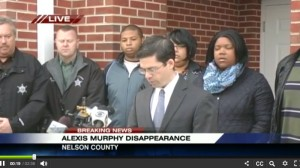 Screengrab courtesy of CBS-19 Charlotesville: Nelson Commonwealth Attorney Anthony Martin announces that a grand jury has returned an indictment of first degree murder against Randy Taylor in the Alexis Murphy case.