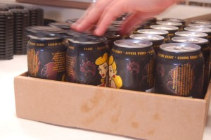 Wild Wolf's Blonde Honey is one of three varieties canned Wednesday at Wild Wolf in Nellysford.