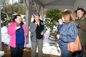 a sample of the freshly boiled maple syrup this past Saturday - March 8, 2013 at The Nature Foundation at Wintergreen.