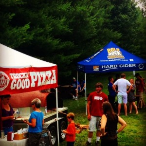 People celebrated the 2nd annoversary of Bold Rock Hard Cider in Nelson County, VA this past Saturday - June 28, 2014