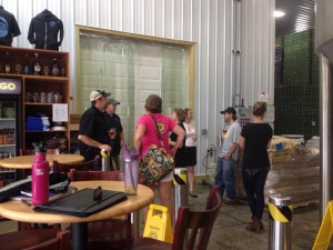 Photo By Yvette Stafford : Folks from several area breweries were on hand Tuesday afternoon in Colleen for a special collaborative brew that will be released in the future. Wild Wolf, Blue Mountain Barrel House, Devils Backbone and Starr Hill all participated.