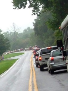 Photos Courtesy of Kim Chappell : Traffic was at a standstill Saturday afternoon - August 23, 2014 along Route 151 & 664 headed toward Wintergreen as two separate events drawing thousands were happening.