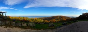A gorgeous view this past Friday afternoon - October 17, 2014 looking down into the Rockfish Valley from Founders Vision Overlook at Wintergreen Resort.