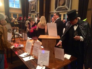Folks checked out many of the silent auction items before the dinner, live auction and dancing began.