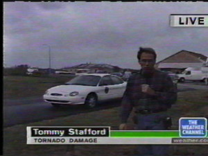 Long before Publisher Tommy Stafford started the magazine, he was chasing storms all across the mid-south area. He frequently was seen on television at storm locations. - In addition to the magazine,  he recently began doing some on air weathercasting for CBS-19 The Newsplex in Charlottesville after a 10.5 year hiatus from the screen.