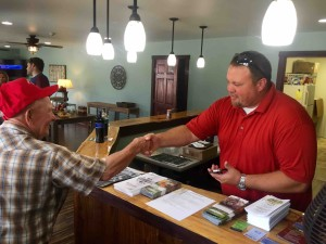 Photo By Tommy Stafford : Ironically, Todd Rath (right) just held an open house on Thursday afternoon for the public to drop by and see his newly opened Rockfish Valley Inn in Afton.
