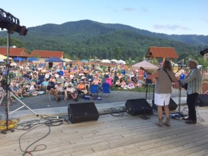 ©2015 Blue Ridge Life Magazine : Photo By Woody Greenberg : Robin & Linda Williams of Augusta County took to the stage at Devils Backbone Brewing Saturday afternoon - July 18th as part of Music for the Mountains Festival to help raise funds and awareness against the proposed Atlantic Coast Pipeline that would go right through Nelson & Augusta Counties as well as others nearby.