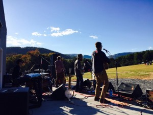 Photo Courtesy of Cabin Creek : The band Cabin Creek played into the afternoon during the Virginia Moonshine Festival held this past Saturday at Silverback Distillery in Afton - October 17, 2015