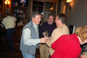©2008-2015 Blue Ridge Life Magazine : Seven years ago Devils Backbone Founder Steve Crandall was all smiles as his brewpub was about to start their journey forward. This was at a soft opening just before officially opening on November 21, 2008. He was joined by Nelson County Sheriff David Brooks (right) and Chris Allwood of the UK to celebrate the kickoff.
