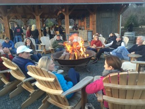 Photo By Yvette Stafford : It was a packed house and a packed patio for the 7th anniversary celebration at Devils Backbone Brewing Basecamp Brewpub & Meadows - Saturday - November 21, 2015