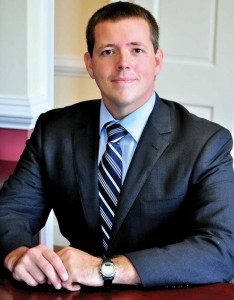 Publicity Photo : Local Nelson Attorney Daniel Rutherford says he will seek the vacant seat opening up as the result of Anthony Martin's resignation. Martin was recently reelected to the office but says he will leave in a few weeks.