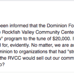UPDATE 3: News Alert : RVCC Accepts Grant From The Dominion Foundation (7.1.16)