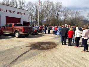The weather was perfect as people lined the parking lot at the Annual Chitterling Fundraiser Dinner held at the Piney River Fire Department on Saturday - February 18, 2017.