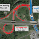 Afton Mountain : Route 250 Lane Closures & I-64 EXIT 99 Ramp Closures May 15–17 In Augusta County
