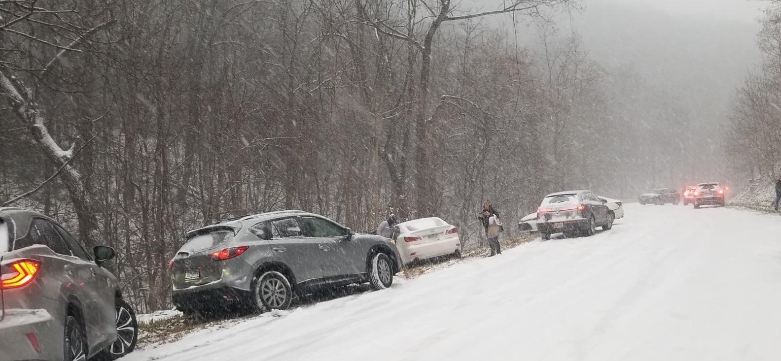 Winter Weather Settles Across The Blue Ridge : Roads