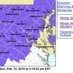 Winter Weather Advisory Until Monday Morning :  EXPIRED