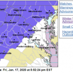 WINTER WEATHER ADVISORY : For Parts Of The Area - CANCELED