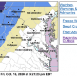 FROST ADVISORY : Late Night Until Mid-Morning Saturday : Includes Wintergreen