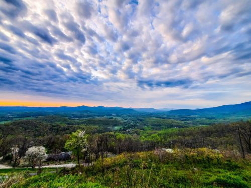 Spring Taking Hold In The Blue Ridge Mountains