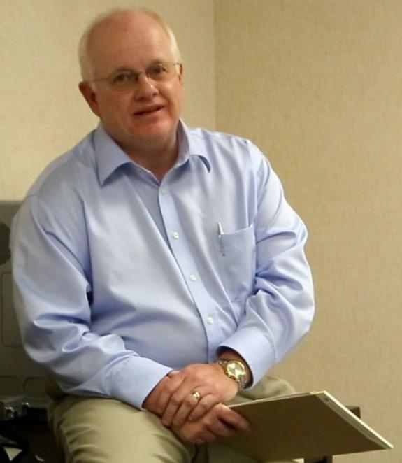 Departing Floyd County Administrator Dan Campbell