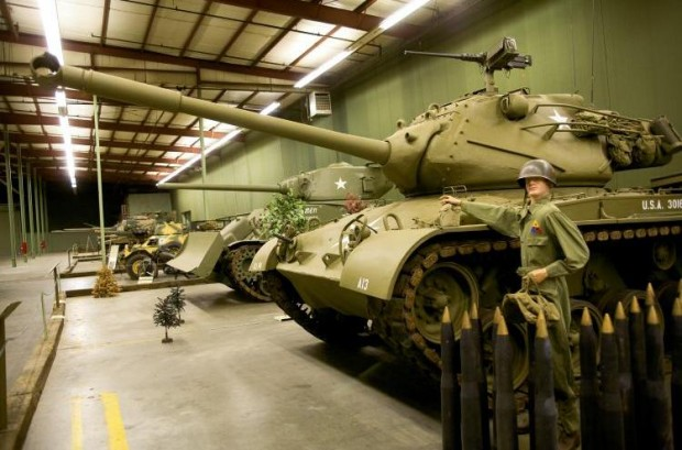 The soon to be gone tank museum in Danville