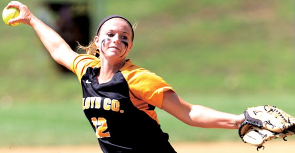 Ashley Gallimore:  Only allowed two hits in final five innings.