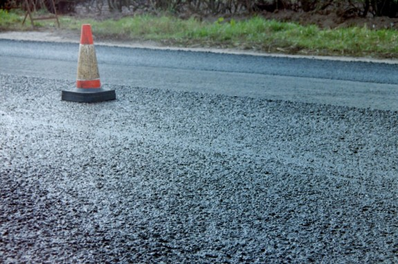 "A ""slurry"" road surface.  This is pavement?"