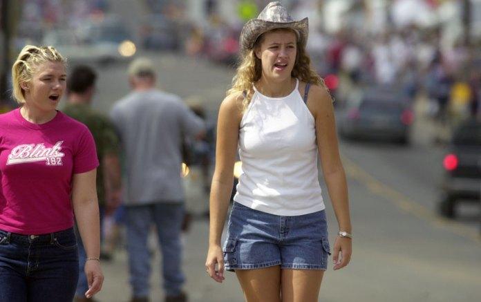 On U.S. 221 in Hillsville on flea market weekend.