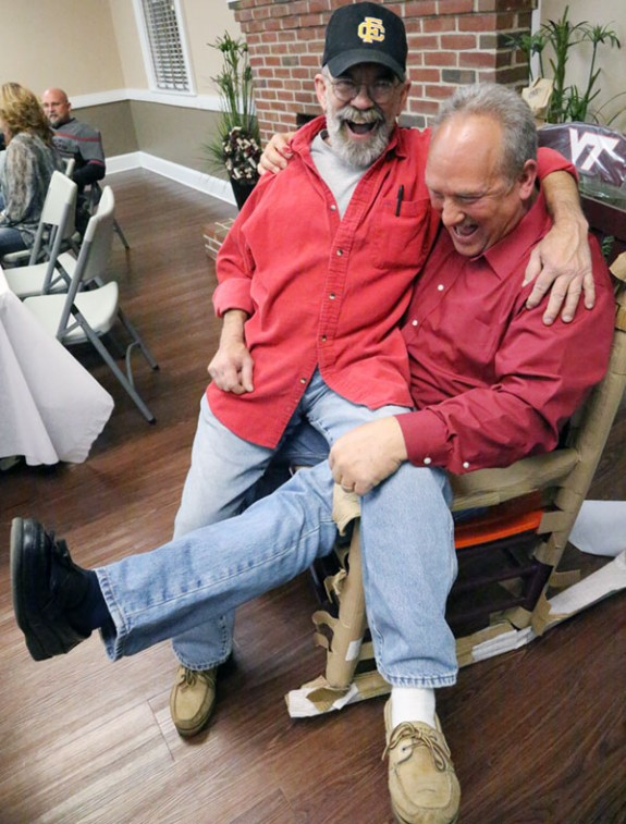 Firearms safety instructor Jim Connor mistakes Zeman for Santa Claus?