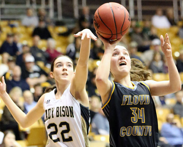 Abigail Behshan: One of four Lady Buffaloes in double digits. (All photos by Doug Thompson)