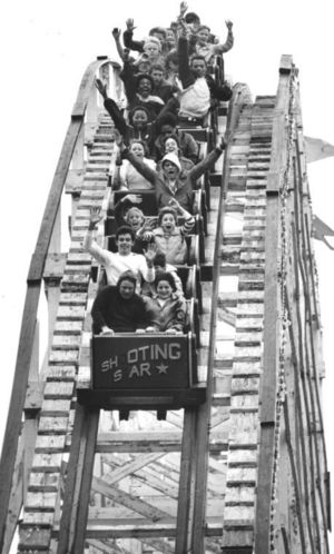 The Shooting Star at Lakeside Amusement Park in the 1960s.