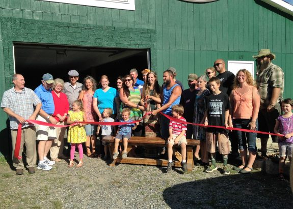 Floyd Rustic and the Floyd County Chamber of Commerce Cuts the Ribbon at The Barn, 177 Gracie Lane NW, Floyd, VA.