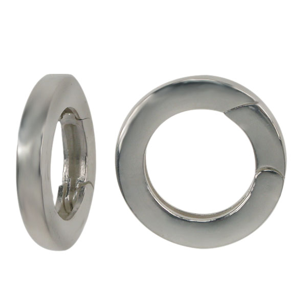 Continuous Round Sterling Silver Clasp 15mm