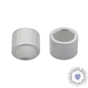 Sterling Silver Crimp Bead, 2mm