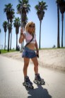 Skater Girl Lorena at Venice Beach