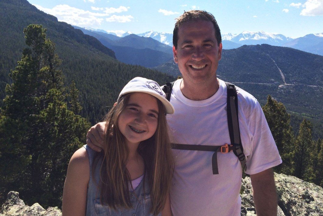 Louisa and Dad Hiking