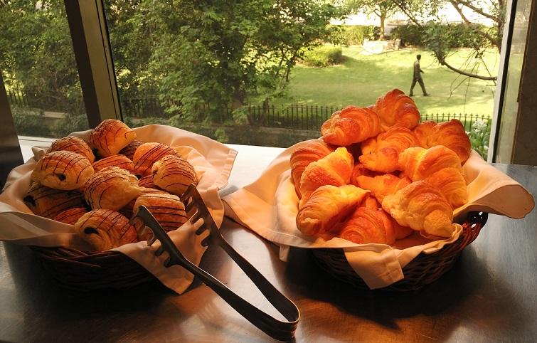 Croissant in breakfast buffet