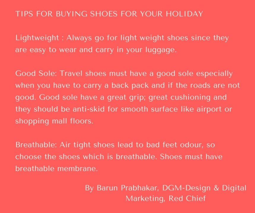 Tips for buying travel shoes
