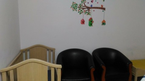 Baby room at Goa airport