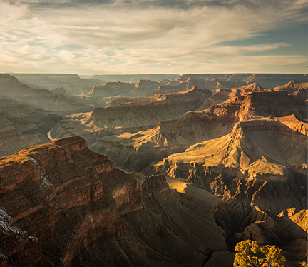 a view of the grand canyon rock formations created by wind and water erosion