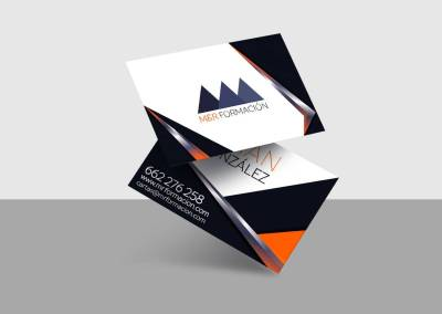 Diseño Tarjetas Visita M&R Formación